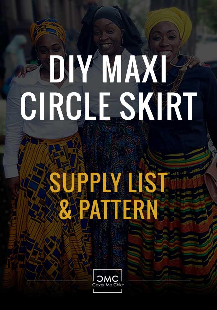 maxi circle skirt