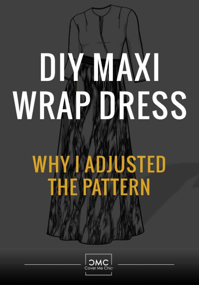 maxi wrap dress measure neckline