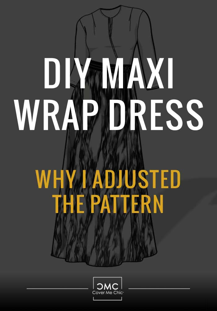 maxi wrap dress measure neckline