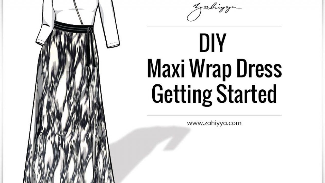 diy maxi wrap dress